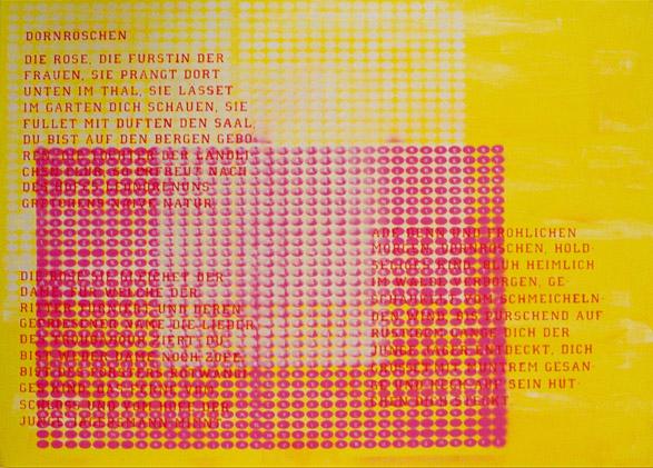 Acryl / Lack auf Leinwand, Gemälde mit Rahmung, 1.400 x 1.000 mm