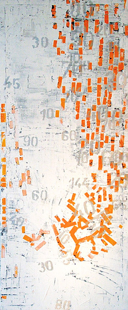 Acryl auf Leinwand, 1.200 x 450 mm